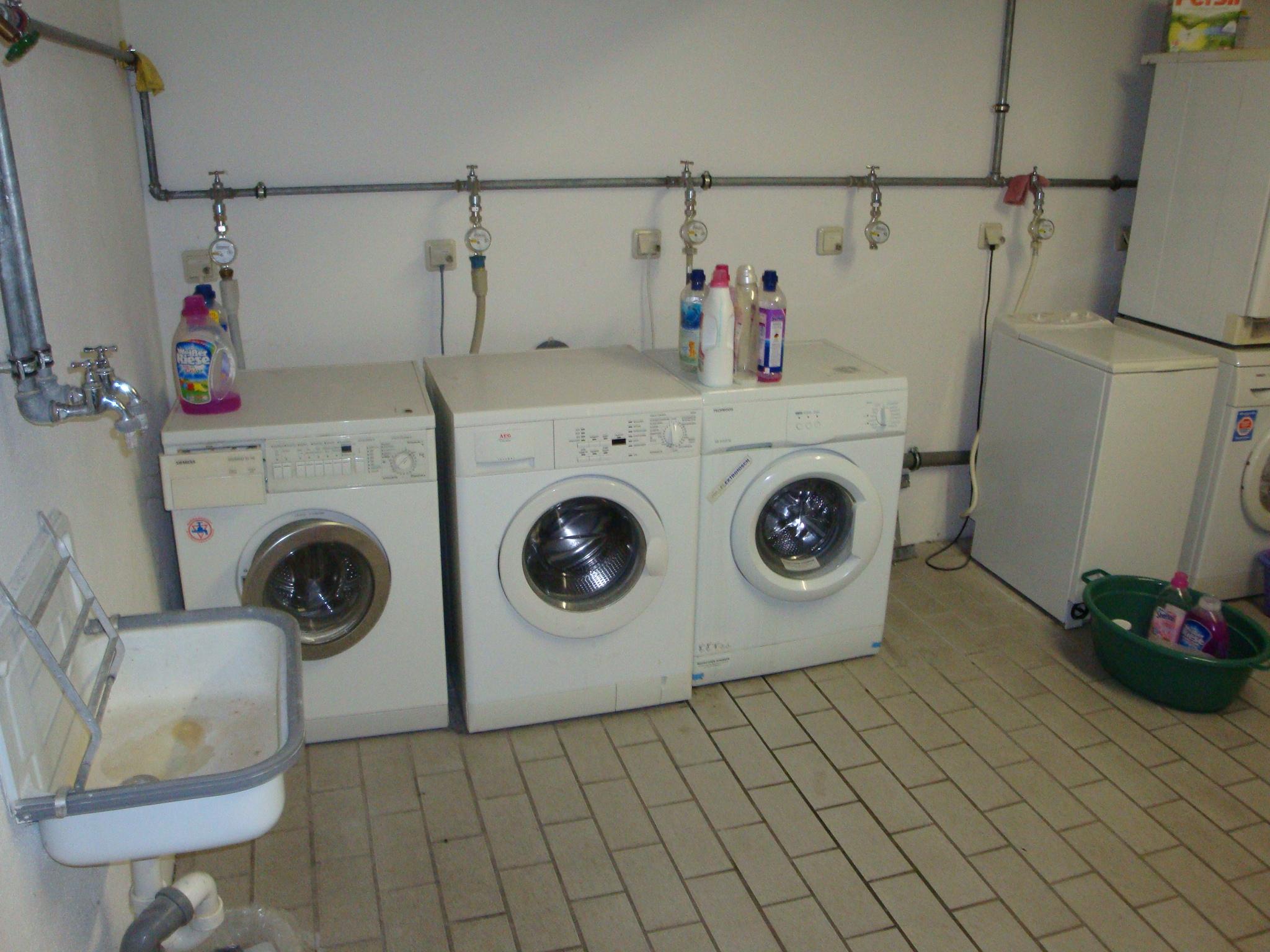 Waschraum mit eigenem Anschluss