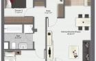 2 Zimmer Wohnung 1. OG Mitte