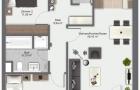 3 Zimmer Wohnung 2. OG Mitte